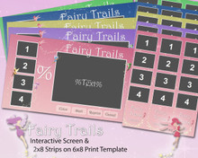 Fairy Trails Interactive Screen and 6x8 Print Templates