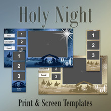 Holy Night- 2x6 and Screen Templates x2