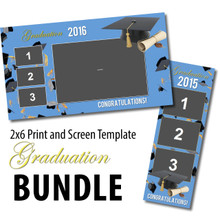 Graduation Bundle- 2x6 Print and Screen Template