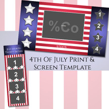 4th of July Bundle - 2x6 Print and Screen Template-2