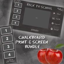 Chalkboard  Print and Screen Template Bundle