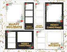 Holiday Gold Foil Balloon Bundle