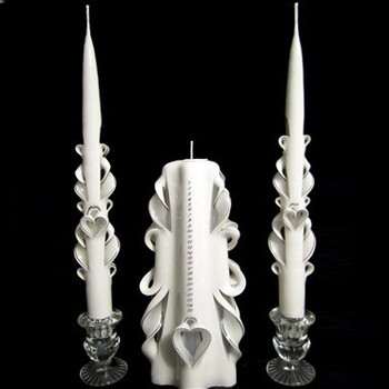 Carved Heart Anniversary Candle