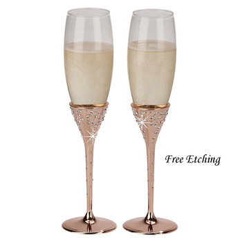 Galaxy Rose Gold Flutes