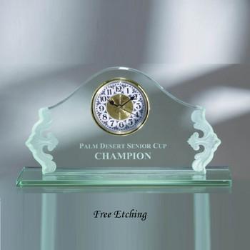 Jade Glass Elite Clock