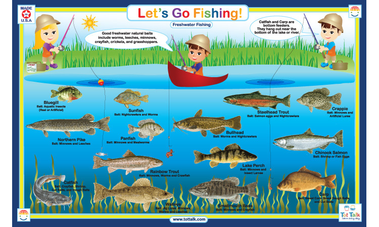 Let 39 s go fishing placemat tottalk for Lets go fishing