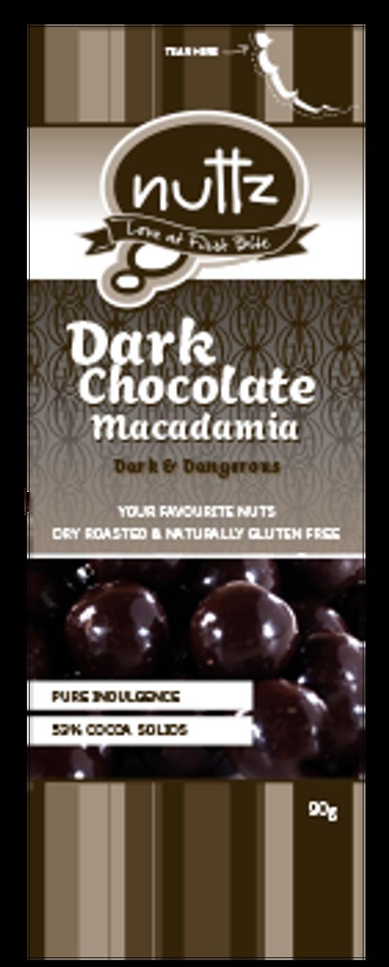 Dark Chocolate Macadamia 90g