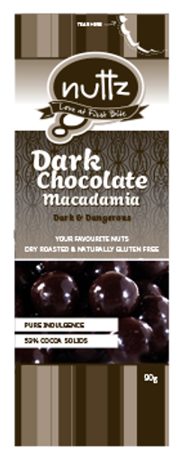 Dark Chocolate Macadamia 90g