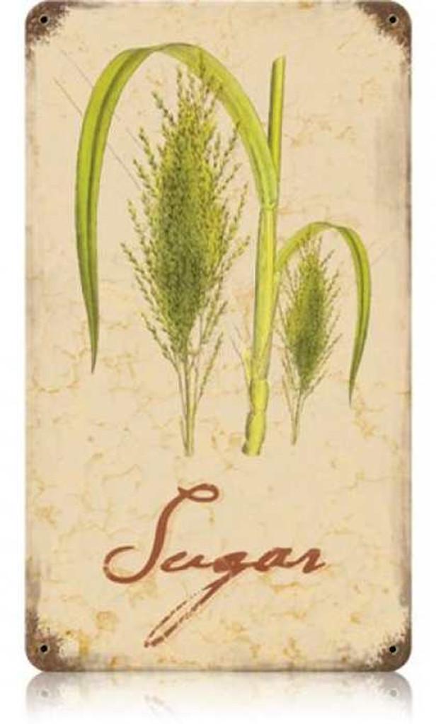 Vintage-Retro Sugar Metal-Tin Sign