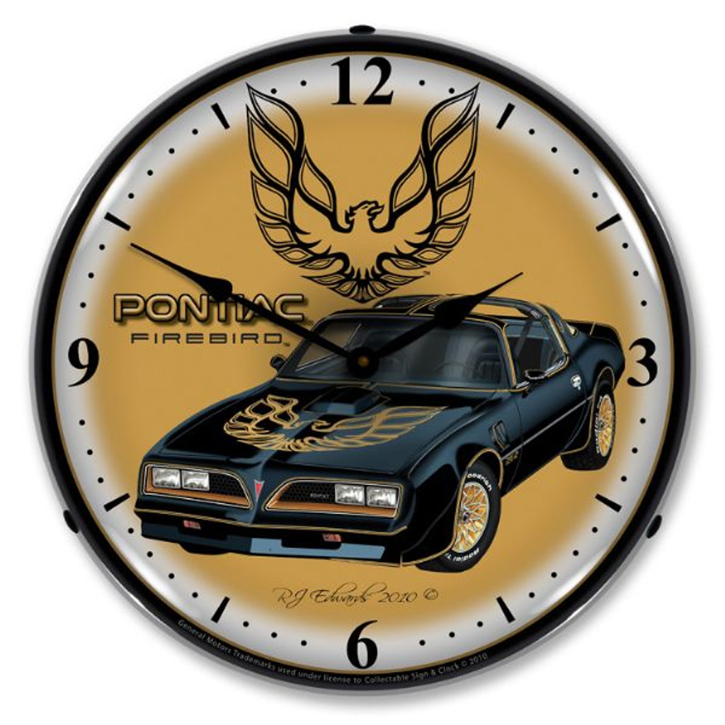 1977 Pontiac Firebird Lighted Wall Clock