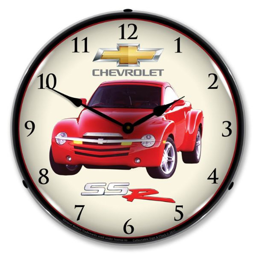 Chevrolet SSR Lighted Wall Clock 14 x 14 Inches