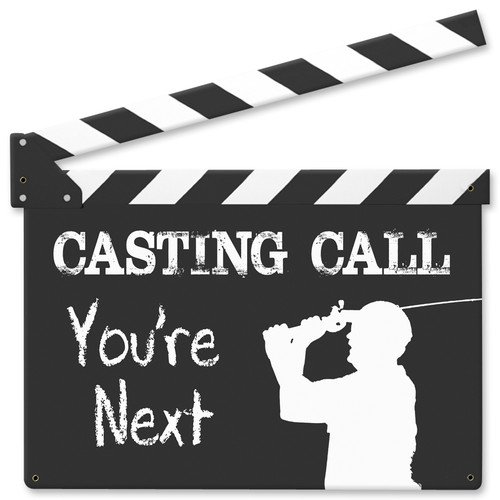 Casting Call Metal Sign 12 x 12 Inches