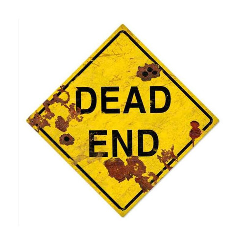 Dead End Metal Sign 28 x 28 Inches