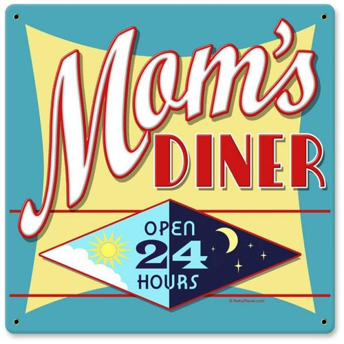 Vintage-Retro Mom's Diner Metal-Tin Sign 2