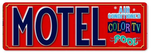 Vintage-Retro Motel Metal-Tin Sign