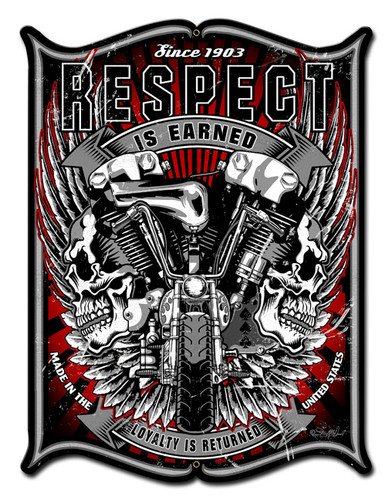 Respect Metal Sign 18 x 24 Inches