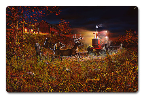 Field Of Dreams Deer Metal Sign 18 x 12 Inches