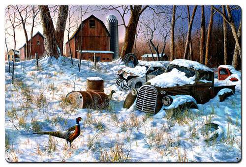 Winter Haven Metal Sign 24 x 36 Inches