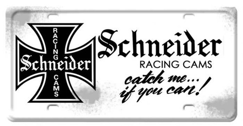 Vintage-Retro Schneider License Plate