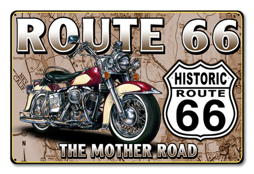 Route 66 The Mother Road Metal Sign 18 x 12 Inches