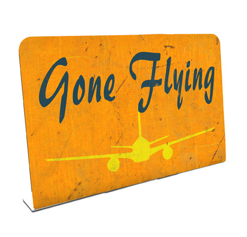 Gone Flying Table Topper 6 x 4 Inches