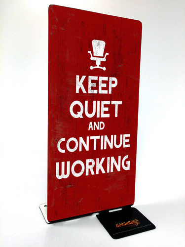 Keep Quiet Table Topper 4 x 9 Inches
