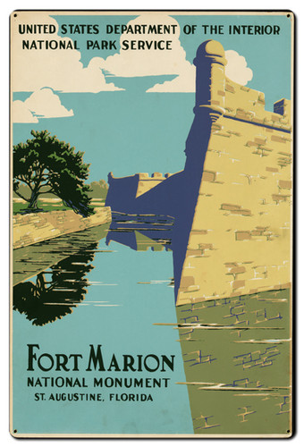 Fort Marion Metal Sign 24 x 36 Inches