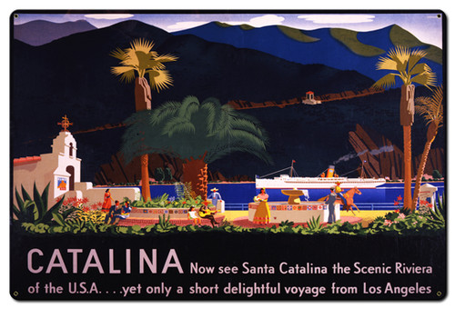 Catalina Metal Sign 36 x 24 Inches
