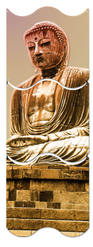 Great Buddha Statue Metal Sign 12 x 36 Inches