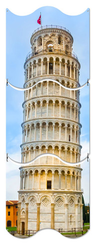 Leaning Tower Of Pisa Metal Sign 12 x 36 Inches