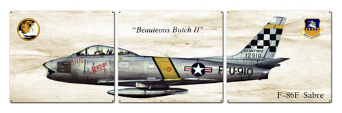 F-86f Sabre Metal Sign 48 x 14 Inches
