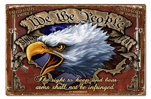 We The People Metal Sign 30 x 18 Inches