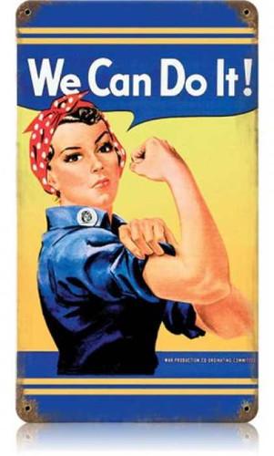 Vintage-Retro Rosie Metal-Tin Sign