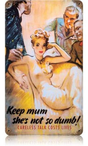 Vintage-Retro Keep Mum Metal-Tin Sign
