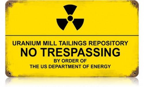 Vintage-Retro Ambrosia Nuclear Metal-Tin Sign