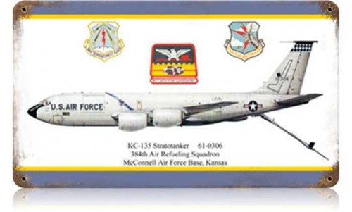 Vintage-Retro KC-135 Stratotanker Metal-Tin Sign