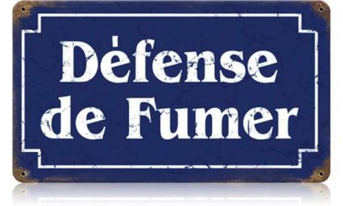 Vintage-Retro Defense Fumer Metal-Tin Sign