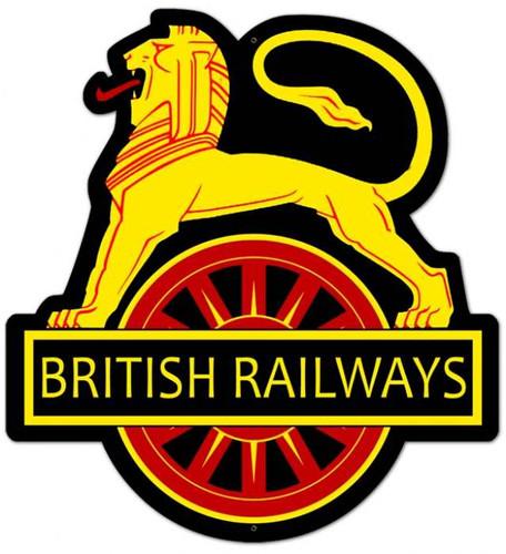 Vintage-Retro British Railways Metal-Tin Sign