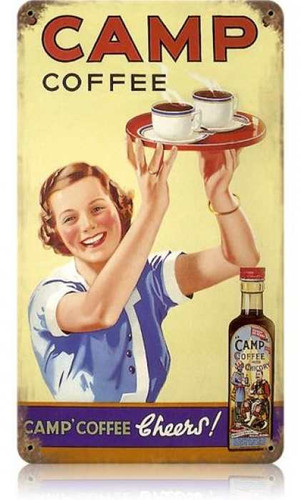 Vintage-Retro Camp Coffee Metal-Tin Sign