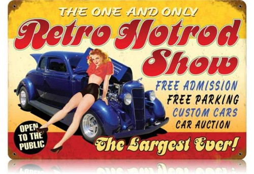 Vintage-Retro Retro Hotrod Show Metal-Tin Sign
