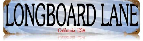 Vintage-Retro Longboard Lane Metal-Tin Sign