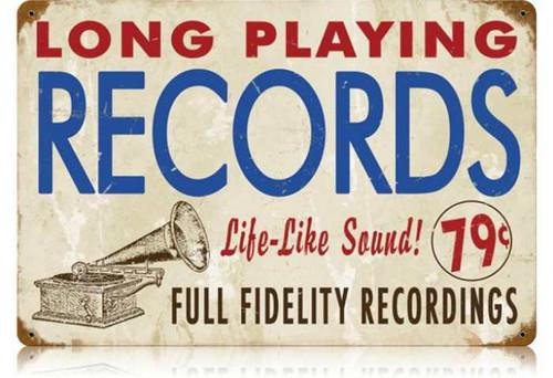 Vintage-Retro Records Metal-Tin Sign