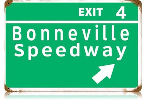 Vintage-Retro Bonneville Speedway Metal-Tin Sign