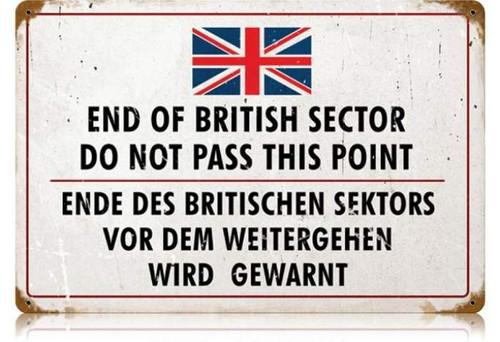Vintage-Retro British Sector Metal-Tin Sign