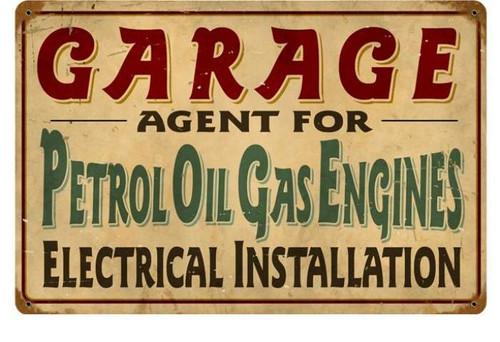 Vintage-Retro Petrol Garage Metal-Tin Sign