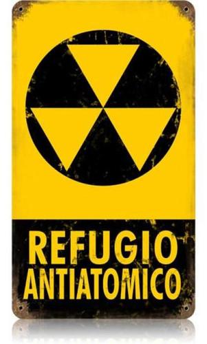 Vintage-Retro Refugio Metal-Tin Sign
