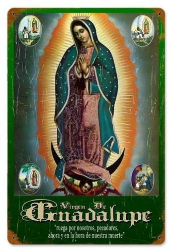 Vintage-Retro Virgen Metal-Tin Sign