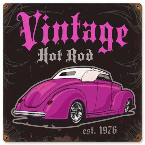 Vintage-Retro Vintage-Retro Hot Rod Metal-Tin Sign