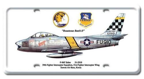 Vintage-Retro F-86F Sabre License Plate