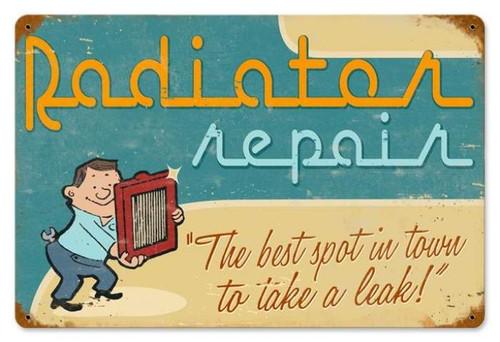 Vintage-Retro Radiator Repair Metal-Tin Sign LARGE